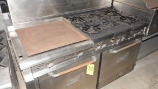 """WOLF CHALLENGER 6 BURNER STOVE w/ FLAT GRILL 22"""" X 22"""""""