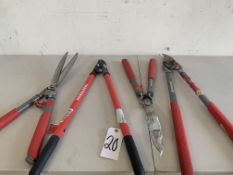Hedge Sheers and Branch Cutters, 4 Items