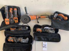 Ridgid Tool Packs: Grinder, Oscillating Multi-Tools, Sander, 8 Tools