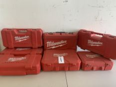 6 Milwaukee Toolboxes (NO TOOLS)