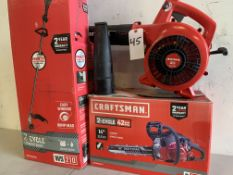 Craftman Gas Power Tools, Weed Wacker, Chain Saw, Blower
