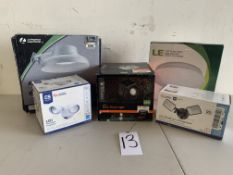 Flood lights and Ceiling Lights, 5 Items