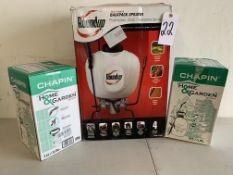 Roundup Backpack Sprayer and Plastic Tank Sprayers, 3 Items