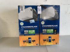 Chamberlain Smart WiFi Garage Door Opener, 2 Items