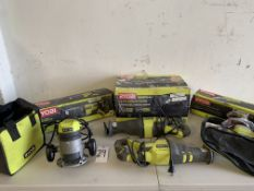 Ryobi Tools: Router, Reciprocating Saws, Sander. (Tested and Works)