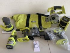 Ryobi Tools, Battery and Battery Charger with Tool Bag,