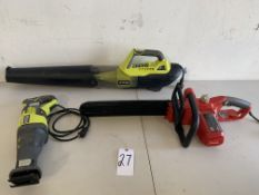Ryobi Blower, Ryobi Reciprocating Saw, Homelite Chainsaw