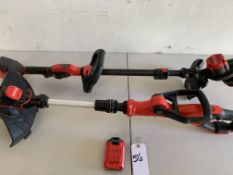 Craftsman Weed Wackers (2pc) with a Battery