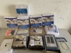 Bedding and Drapes, 14 Items