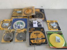 Saw Blades, Grinder, and Buffer Pad, 11 Items