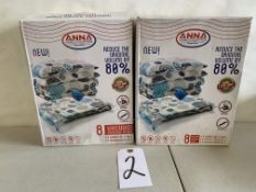Anna Home Collection 8 Vacuum Storage Bags (2 pcs)