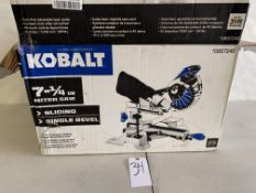 "Kobalt 7 1/4"" Sliding Single Bevel Miter Saw"