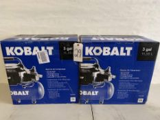 Kobalt 3 GAL Electric Air Compressor (2 pcs)