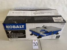 "Kobalt 7"" Table Top Tile Saw"