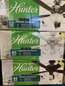 "Hunter 44"" & 52"" Ceiling Fans (3 pcs)"