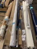 Pallet of Long Blinds and Window Coverings
