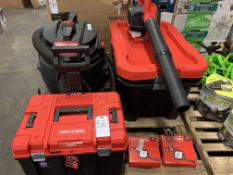 Craftsman Toolbox, Storage Boxes, Blower and Lights. Shop*Vac Vacuum