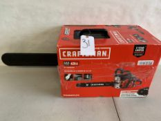 "Craftsman 18"" Gas Chainsaw (Tested and Working)"