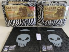 Safari Seat Covers and Skull Floor Mats