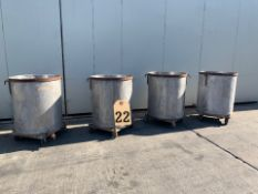 4 PIECE STAINLESS STEEL PORTABLE TANKS