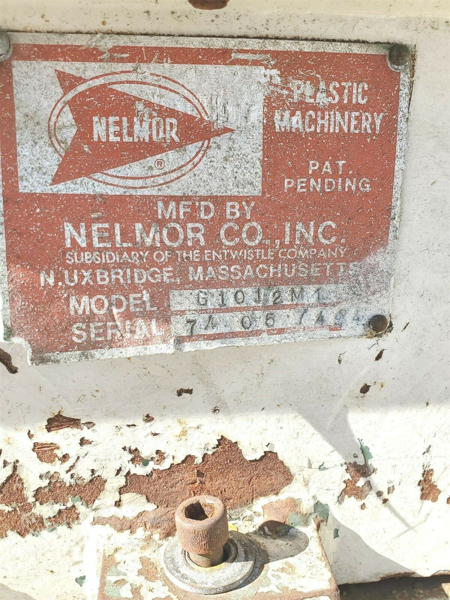 "10 hp NELMOR CO G1012M1 PORTABLE 13"" x 10"" PLASTIC GRANULATOR - Image 3 of 5"