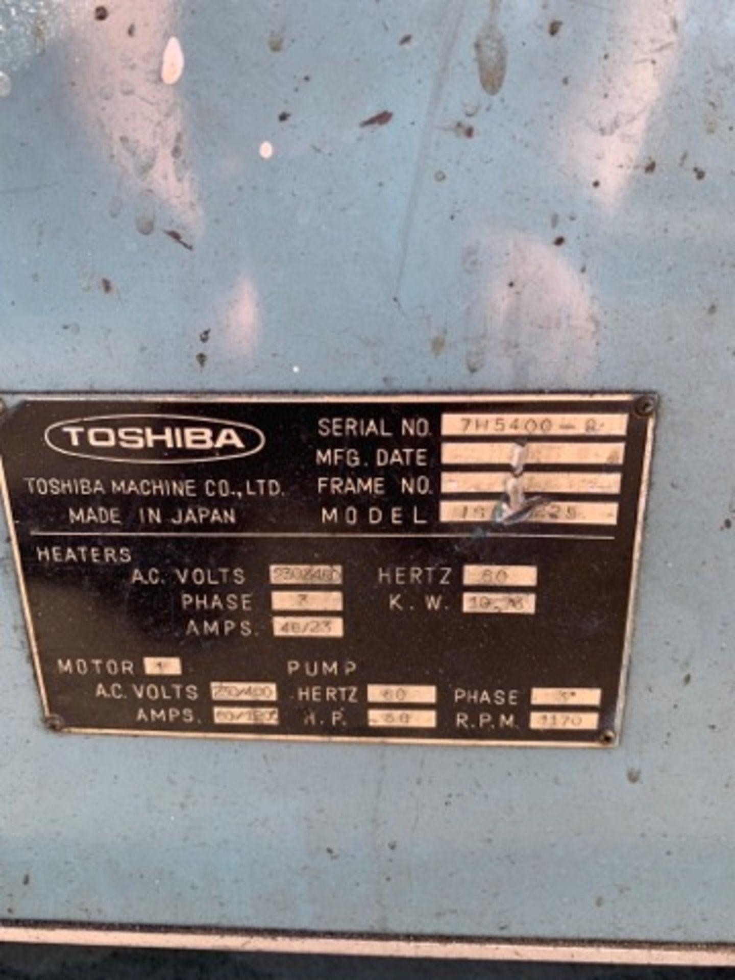 225 TON TOSHIBA ISC225 INJECTION MOLDING MACHINE - Image 3 of 4