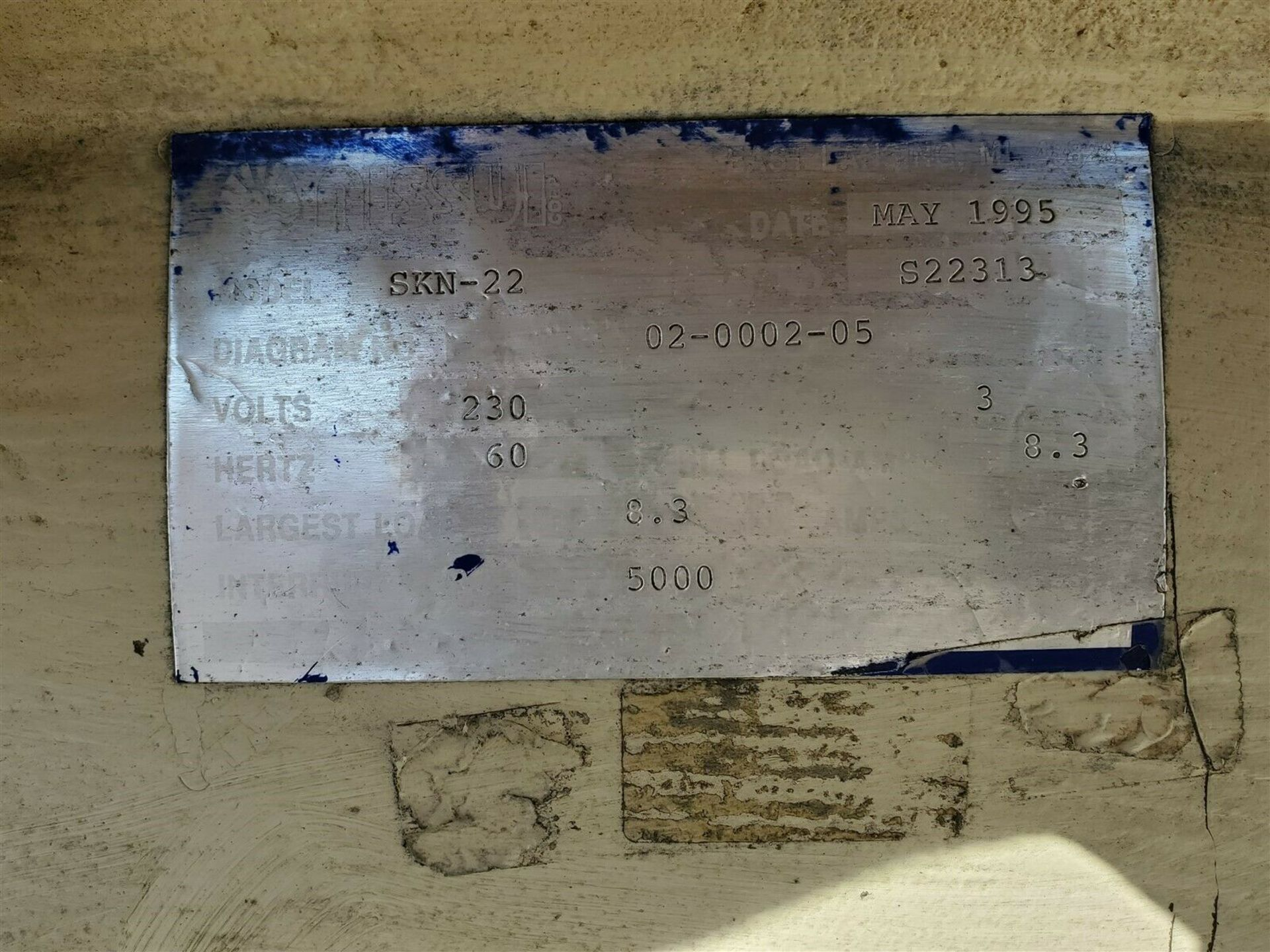"3hp NISSUI CORP SKN-22 PORTABLE 15"" PLASTIC GRANULATOR CUTTER GRINDER - Image 3 of 4"