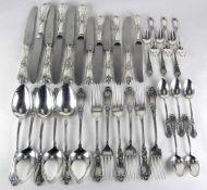 Silberbesteck für sechs Personen<