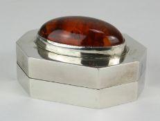 Art Deco Silberdose