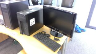 Dell Precision T1700 Intel Xeon PC complete with Samsung 24 inch monitor, keyboard and mouse