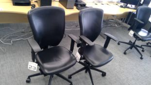 2 No. 3 way adjustable gas operated chair