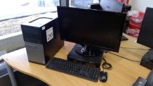 Dell Optiplex 3020 Core i3 PC with Samsung 24 inch monitor, keyboard and mouse