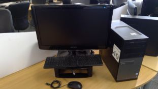 Dell Optiplex 3010 Pentium PC with Samsung 24 inch monitor, keyboard and mouse