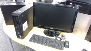 Dell Vostro Pentium PC with Samsung 24 inch monitor, keyboard and mouse