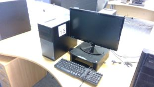 Dell Optiplex 3020 Core i3 PC with Samsung 22 inch monitor, keyboard and mouse
