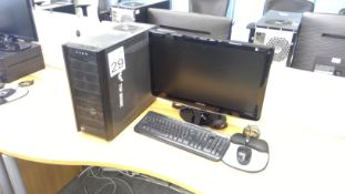 Antec AMD FX PC with Samsung 24 inch monitor, keyboard and mouse