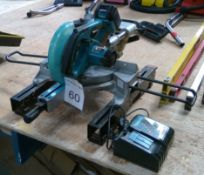 Makita BLS713 18v 190mm dia Cordless compound mitre saw with 3.0 Ah battery and charger