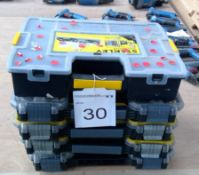 5 No. Stanley FatMax Pro Organisers with assorted fixings enclosed
