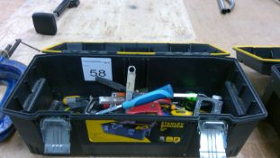 Box of assorted hand tools to include hammers, chisels etc