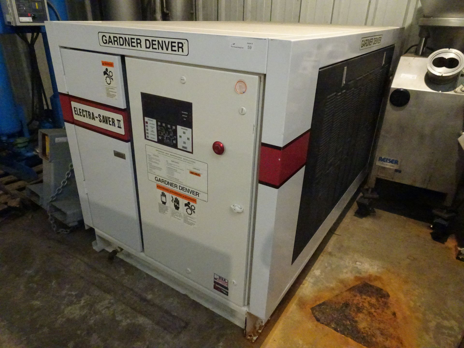 Lot 33 - Gardner Denver Model EBH99G Elecrta-Saver II 50HP Rotary Screw Air Compressor