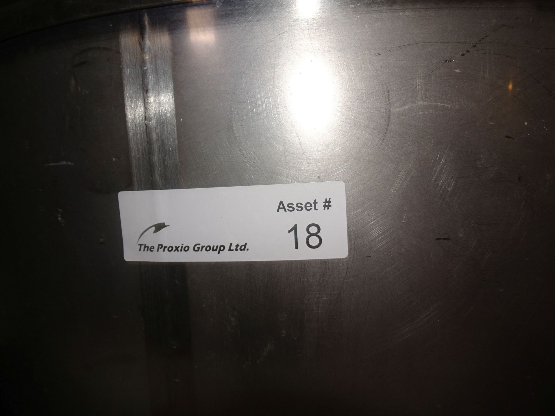 Lot 16 - Stainless Steel Transfer Vessel on Cart