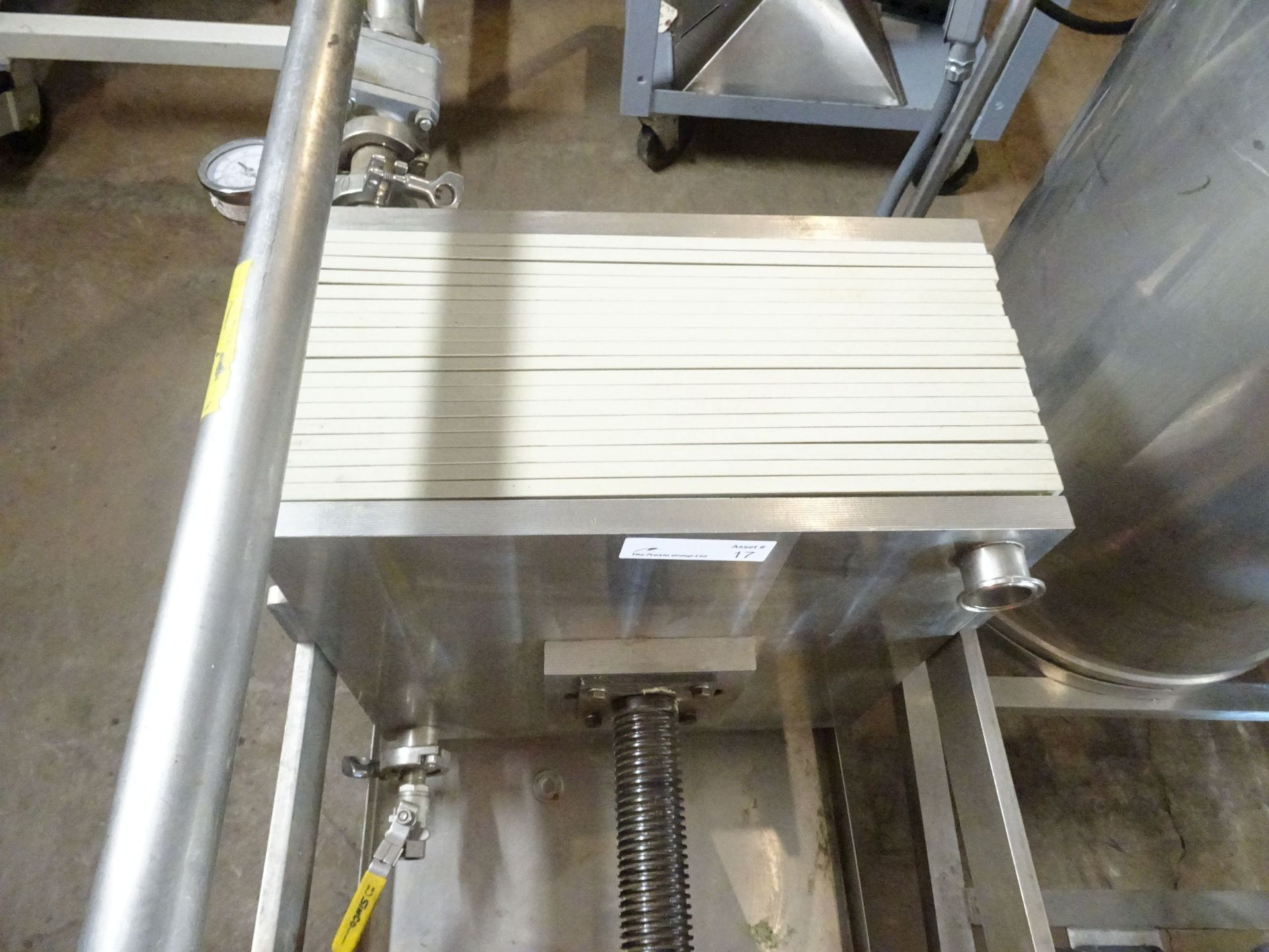 """Lot 23 - Star Filters Stainless Steel Lab Filter Press - 60 PSI - 18"""" x 18"""""""