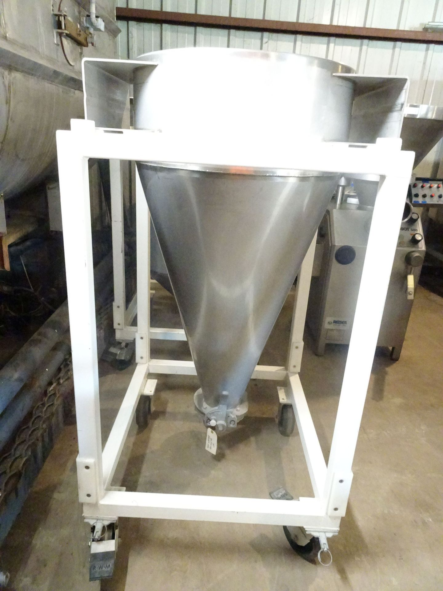 Lot 18 - Stainless Steel Transfer Vessel on Cart