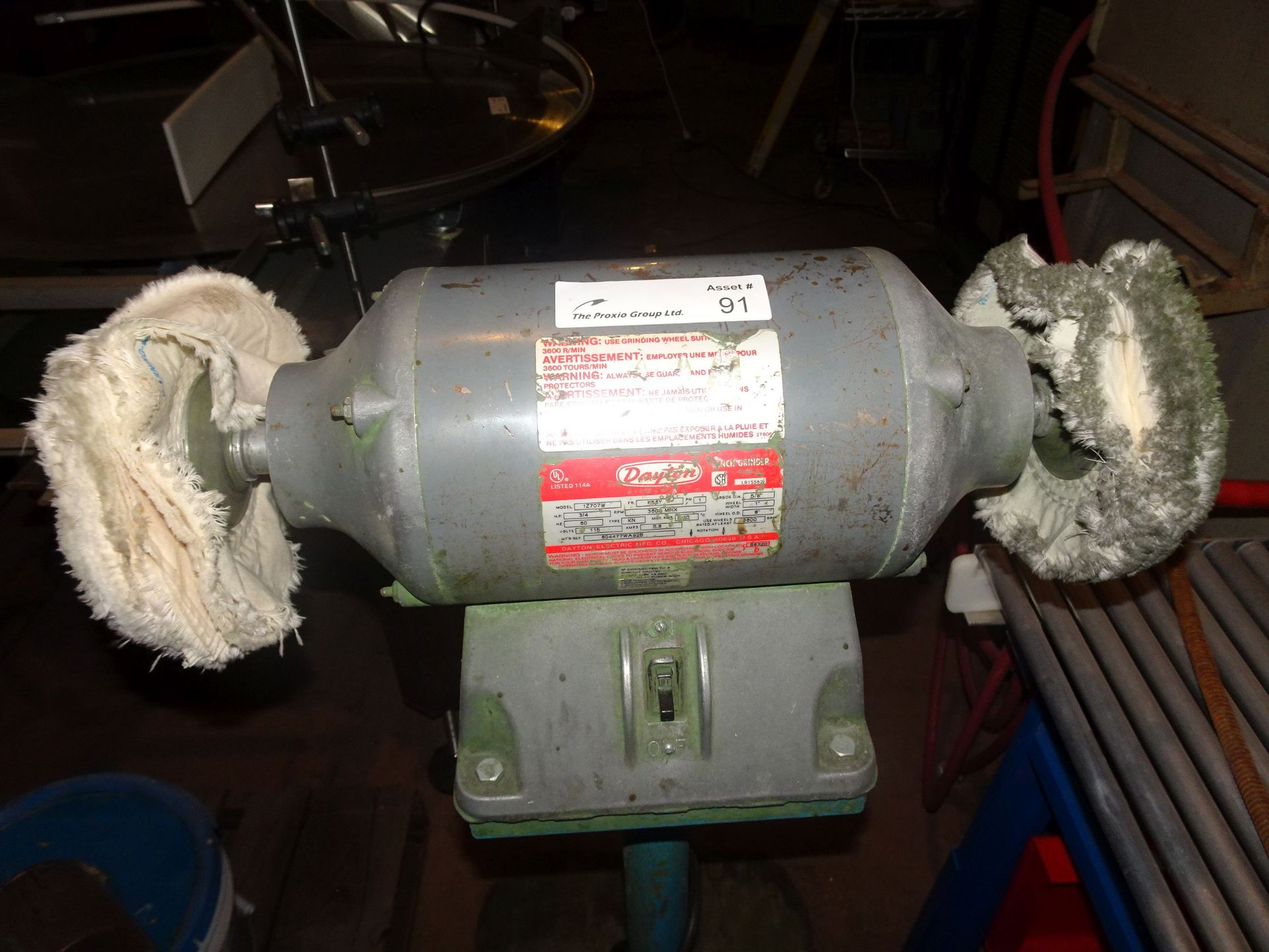 Lot 4 - Dayton 1Z707W Double Ended 7.5HP Pedistal Mounted Bench Grinder