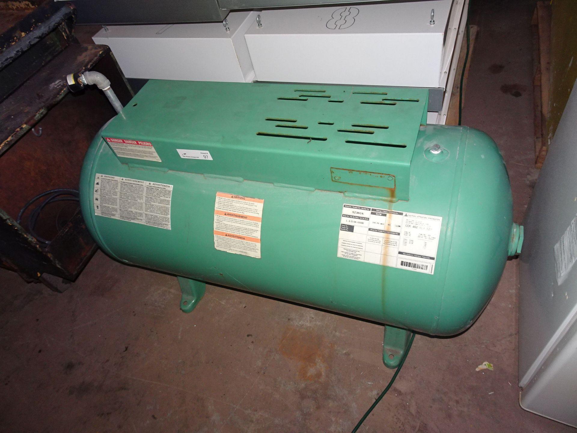 Lot 6 - 60 Gallon Capacity Air Tank