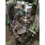 Carr Powerfuge centrifuge, model P6, 316L Ti-GAL-4V construction, 60 liter/hour max flow