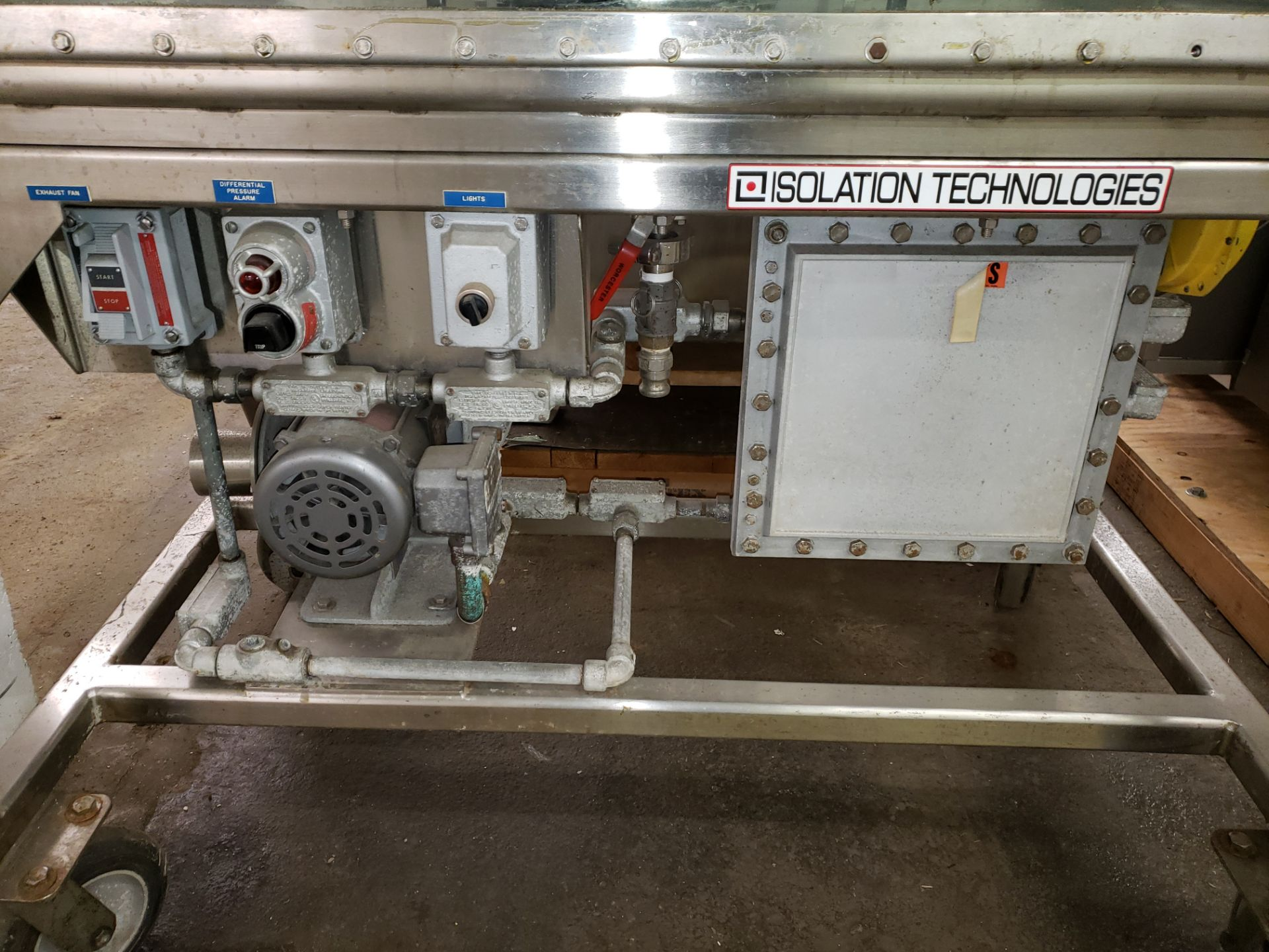 Lot 47 - Isolation Technologies glove box, model ISO System 1.5-1, stainless steel construction,