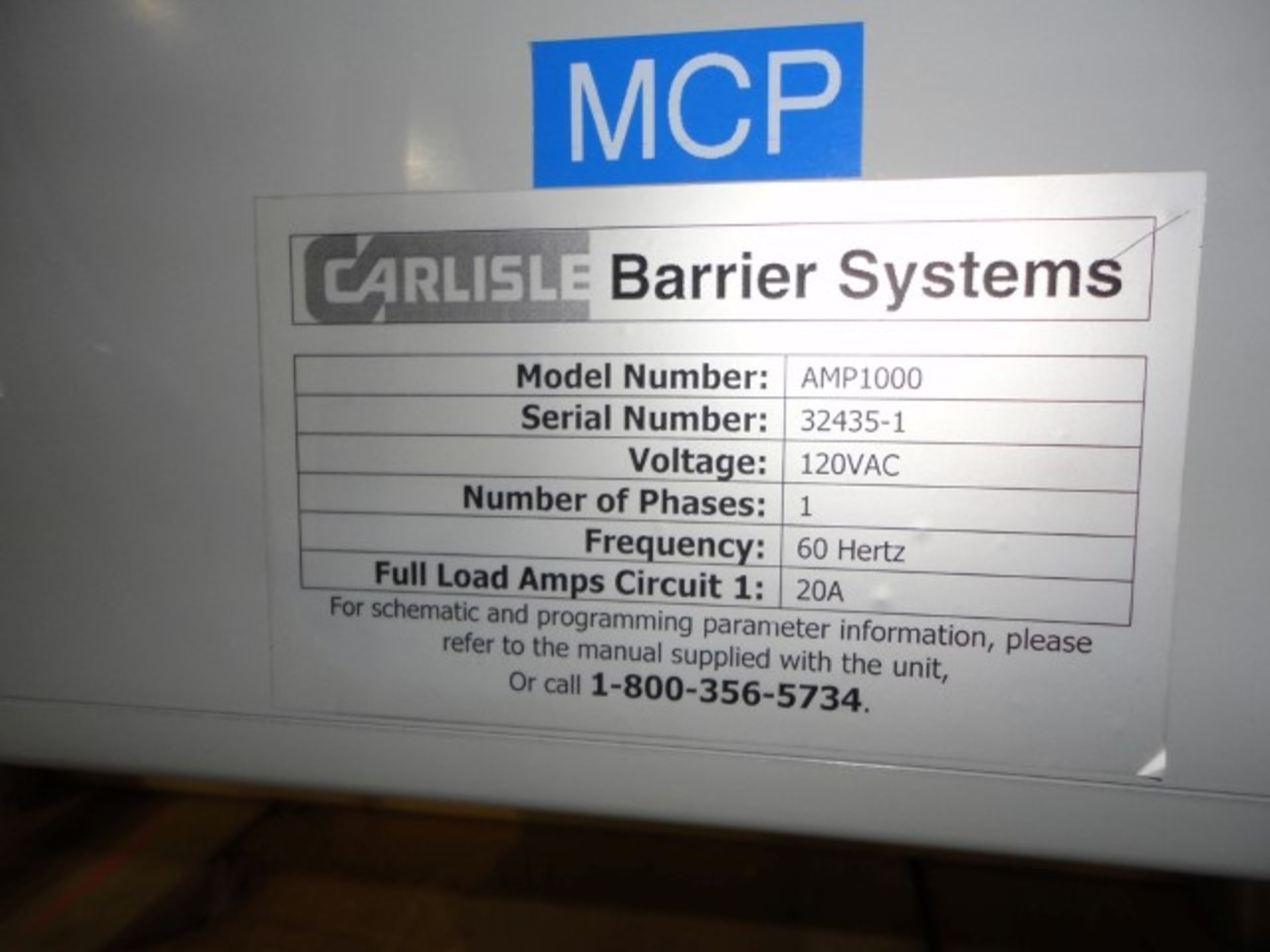 Lot 100 - Carlisle glove box, model AMP-1000, stainless steel construction