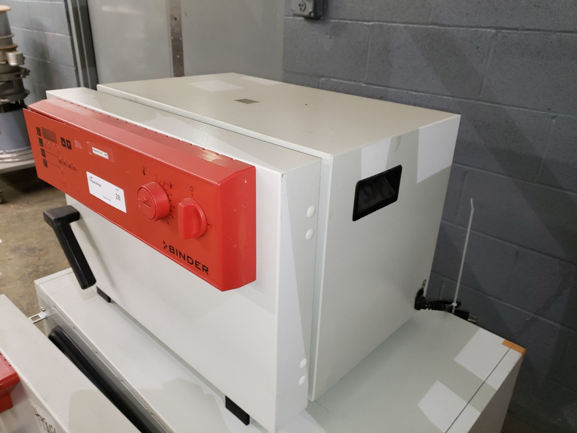 Lot 28 - Binder oven, model IP-20, stainless steel product contacts surfaces, .8 kw, 115 volt, serial#