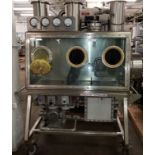 Isolation Technologies glove box, model ISO System 1.5-1, stainless steel construction,